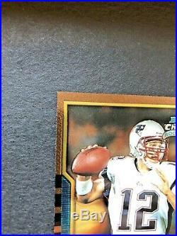 Tom Brady 2000 Bowman Chrome Rookie RC Mint Super Sharp Corners Patriots