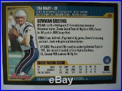 Tom Brady 2000 Bowman Rookie Card