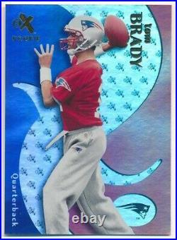 Tom Brady 2000 E-x #122 Rc Rookie Card New England Patriots Sp #0751/1500