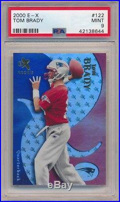 Tom Brady 2000 E-x #122 Rc Rookie New England Patriots Sp #/1500 Psa 9 Mint