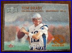 Tom Brady 2000 Fleer Rare Metal Rookies