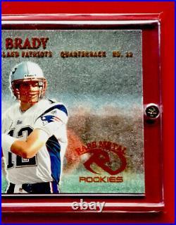 Tom Brady 2000 Fleer Rookie Metal # 267 Original & Rare Tom Brady Rookie Card