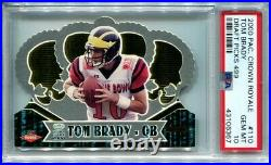 Tom Brady 2000 Pacific Crown Royale Draft Picks #110 /499 pop 3 Rookie PSA 10