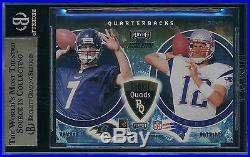 Tom Brady 2000 Playoff Momentum Quad Bgs 9.5 Rookie Card #rq-11 Sp