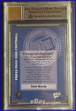 Tom Brady 2000 Press Pass Rookie Auto Rare New England Patriots 1st Ballot HOF