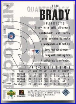 Tom Brady 2000 Ud Black Diamond #126 Rc Rookie Card New England Patriots Sp B