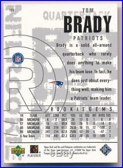 Tom Brady 2000 Ud Black Diamond #126 Rc Rookie Card New England Patriots Sp C