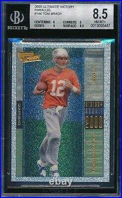Tom Brady 2000 Ultimate Victory Parallel Rookie Card #146 Bgs 8.5! 9 X 2 Subs