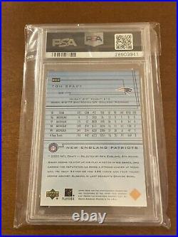 Tom Brady 2000 Upper Deck 254 Non Auto PSA 9 Rookie Rc Card UD 254 non BGS