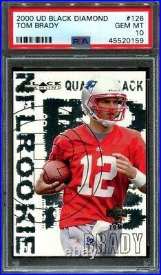 Tom Brady 2000 Upper Deck Black Diamond #126 Rookie RC PSA 10