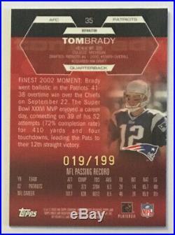Tom Brady 2003 Topps Finest Moment Holofoil White Refractor /199 (VERY RARE)
