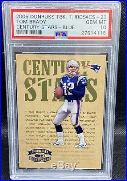 Tom Brady 2005 Donruss Throwback Threads PSA 10 Gem Mint Only 100 Made POP 3
