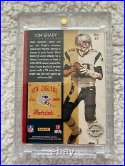 Tom Brady 2013 Panini Contenders Football Autograph Card #67 Auto Card GOAT