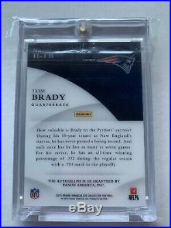 Tom Brady 2015 Immaculate Collection Ink Signatures Auto 10/10