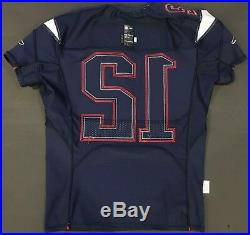 Tom Brady 2016 New England PATRIOTS GAME ISSUED Autographed Jersey