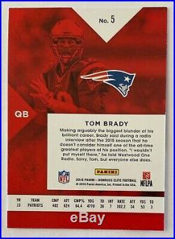 Tom Brady 2016 Panini Donruss Elite BLUE Refractor # /5 (RARE) Ebay 1/1