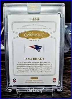 Tom Brady 2017 Flawless Greats On Card Autograph #1/5 heading to SB10