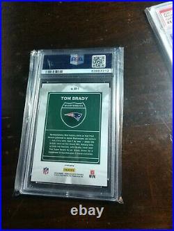 Tom Brady 2018 Donruss Optic Prizm Downtown PSA 10 Gem Mint no auto rare insert