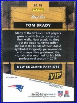 Tom Brady 2019 Panini VIP Gold Pack National NF l Logo Shield 1/1 Vinyl SSP Pats