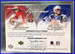 Tom Brady And Joe Montana 2003 Upper Deck Sp Game Used Dual Auto #25/25 L@@k