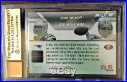 Tom Brady And Joe Montana 2007 Topps Co Signers Dual Autograph Sp Bgs 9.5