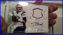 Tom Brady Auto with Game Used Material 2/10 2015 National Treasures NE Patriots