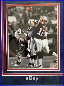 Tom Brady Autograph Signed Patriots Blue Nike Jersey Framed Tristar