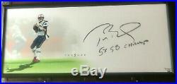 Tom Brady Autographed 5X SB Champ 46x20 Framed Lithograph TRISTAR/UDA LE 17/51
