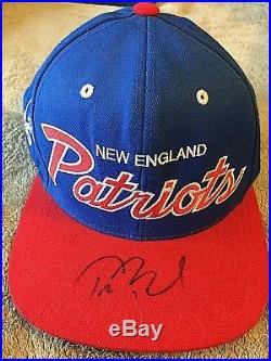 Tom Brady Autographed New England Patriots Cap Mitchell & Ness Signed In Person