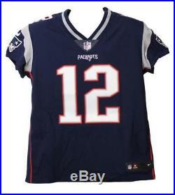 Tom Brady Autographed New England Patriots Elite 48 Blue Jersey Tristar 22172