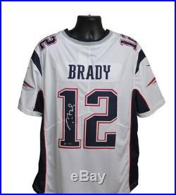 Tom Brady Autographed New England Patriots White Nike Jersey with Tristar COA