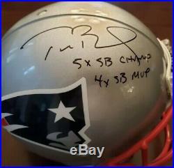 Tom Brady Autographed Patriots Proline Helmet SB LI LE /12 Tristar & Fanatics