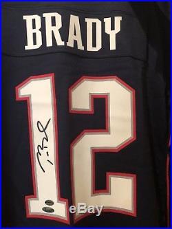 Tom Brady Autographed Sign New England Patriots Jersey Tristar Leaf Coa