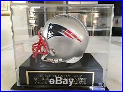 Tom Brady Autographed / Signed Mini Helmet With Case & JSA LOA