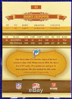 Tom Brady Daunte Culpepper 2007 Donruss Classics RARE ERROR CARDS #58 #53