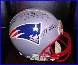 Tom Brady, Gronkowski, Edelman Auto Official Fs Patriots Proline Helmet- Tristar