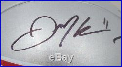 Tom Brady & Julian Edelman Autographed Patriots Full Size Helmet Beckett 147913