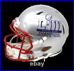 Tom Brady/Julian Edelman/Rob Gronkowski Patriots Signed Auth Helmet Fanatics