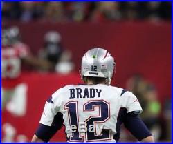 Tom Brady Nee England Patriots MVP SB 51 XLIV Riddell Game Issued Style Helmet