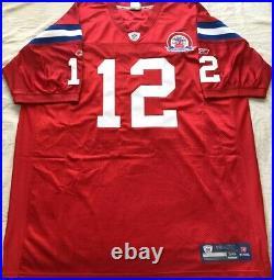 Tom Brady New England Patriots 2009 authentic Reebok red game model third jersey