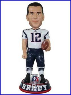Tom Brady New England Patriots 6 Time Super Bowl Champion 3 Foot Tall Bobblehead