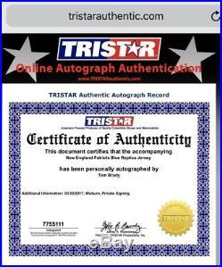 Tom Brady New England Patriots Framed Signed Navy Jersey Tristar Fanatics COA