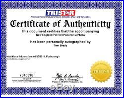 Tom Brady New England Patriots Signed LEGACY 12x36 Panoramic Photo TRISTAR L/E