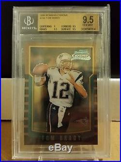Tom Brady Rookie 2000 Bowman Chrome BGS 9.5 Gem Mint New England Patriots
