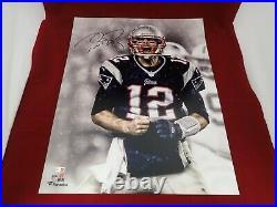 Tom Brady Signed Autograph New England Patriots Screaming 16x20 Photo Fanatics