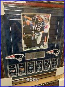 Tom Brady Signed Autographed Photo Custom Framed to 20x22 PSA