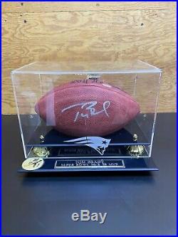 Tom Brady Signed New England Patriots Football/mounted 2005 Tristar Nice