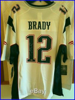 d43b04fd3 Tom Brady Signed White Nike New England Patriots Game Jersey Tristar Coa