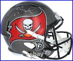 Tom Brady Tampa Bay Buccaneers Autographed Riddell Speed Replica Helmet