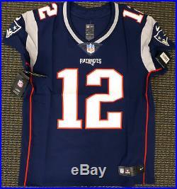 Tom Brady Unsigned Patriots Blue Nike Vapor Elite Jersey Size 44 159378